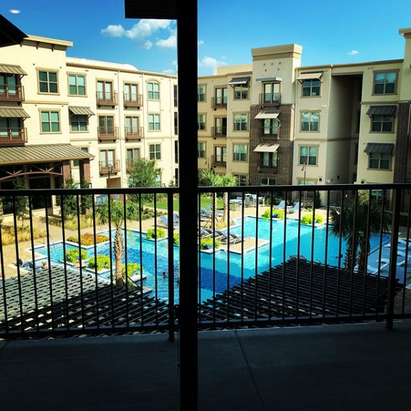 We released our latest two bedroom apartment! 1262 sq ft for only $1575/mo! Available from August 3rd-September 18th! #giantpatio #brandnewapartments #thatpoolthough